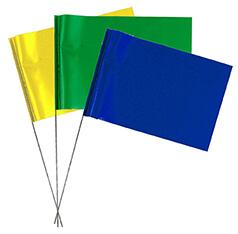 White Rhino Plain Marking Flags - EGW